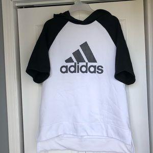 Adidas short sleeve sweatshirt size L